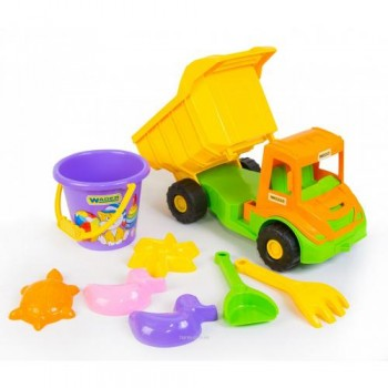 """Multi truck"" грузовик с набором для песка 8 эл."