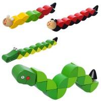 Дереянная игрушка Змейка MD 1194