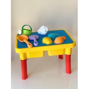 Стол для песка желтый