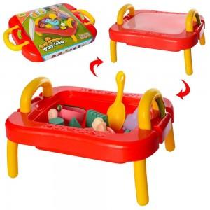 Стол для песка красный