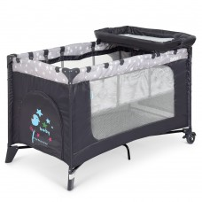 Манеж ME 1054 SAFE PLUS Stars Gray